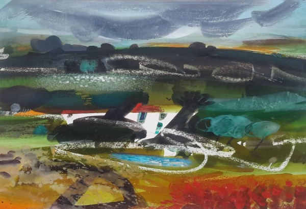 Sue Howells, Black Mountain Sheep and Cottage