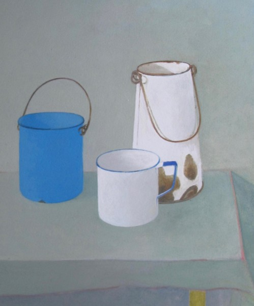 Wendy Jacob, Three Enamel Pots