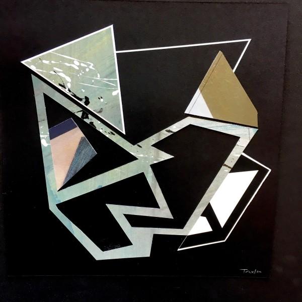 Lisa Traxler Safety Net 9 acrylic on paper Frame: 36 x 36 cm Artwork: 24 x 24 cm