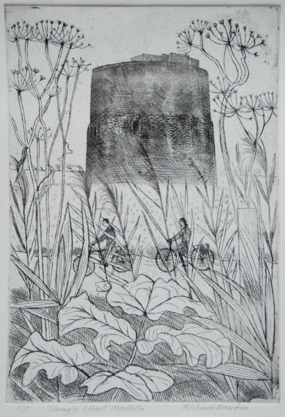Richard Bawden Shingle Street Martello etching 46c37cm