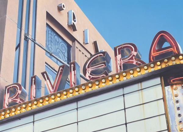 Denis Ryan Riviera Cinema Charleston, South Carolina acrylic 93x75cm