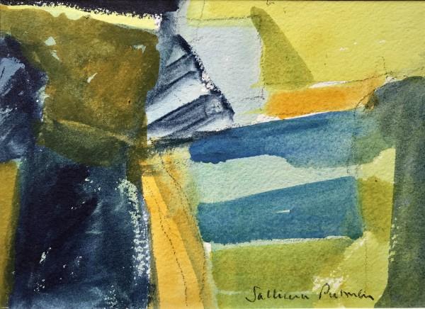 Salliann Putman Frensham 1 watercolour Frame: 28 x 33 cm Artwork: 13 x 18 cm