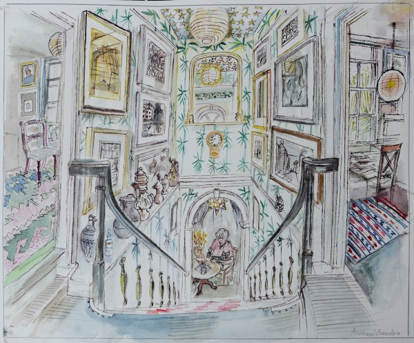 Richard Bawden Above and Below The Staircase watercolour