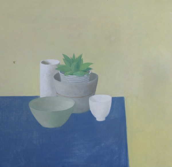 Wendy Jacob Small Green Succulent Gouache