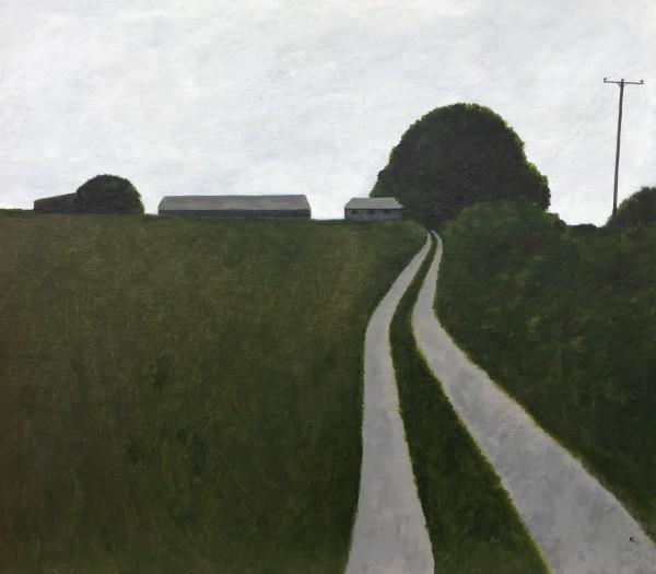 Martin Leman Track to the Farm acrylic 57x52cm