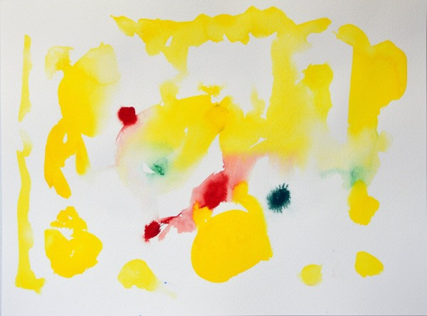 James Faure Walker Yellow, February 16, 2021, No.3 gouache Artwork: 38 x 28cm