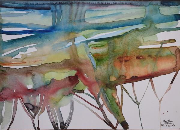 Robin Richmond Mai Chau, Vietnam watercolour Artwork: 29.5 x 40 cm Frame: 45.5 x 63 cm