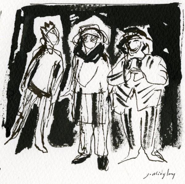 Julia Midgley Hat Heaven ink Frame: 32 x 28 cm Artwork: 10 x 9 cm