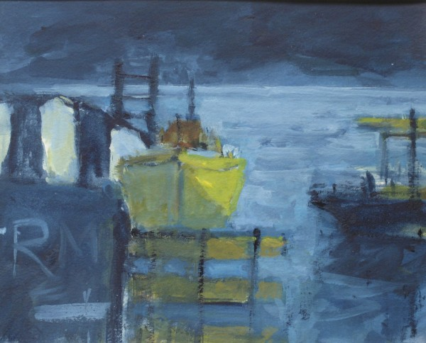 Salliann Putman Last Light watercolour & gouache Frame: 36 x 42 cm Artwork: 20 x 25 cm