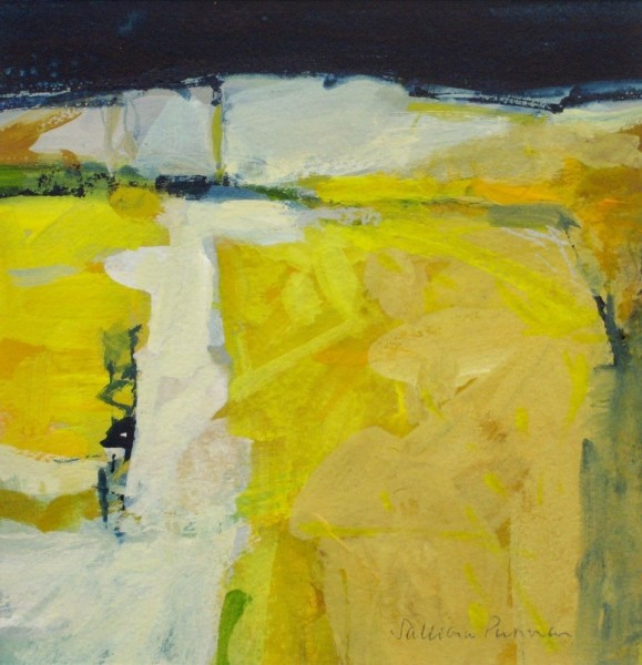 Salliann Putman Yellow Fields watercolour & gouache
