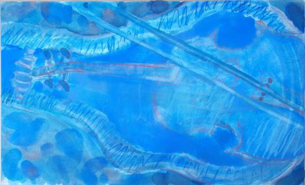 Anne Marlow Silent Violin watercolour, pastel & gouache 59x44cm