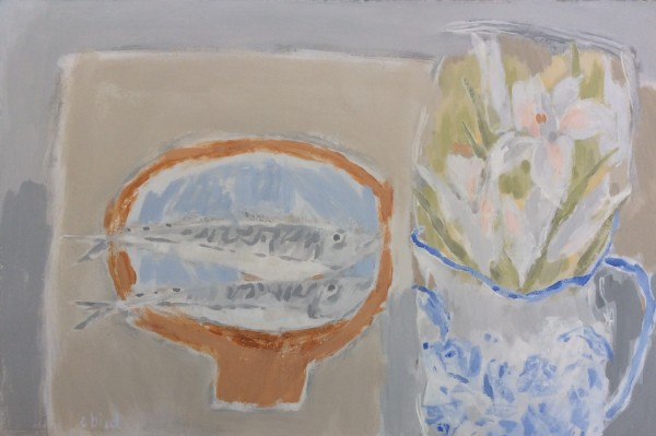 Christie Bird, Mackerel Table with Lilies