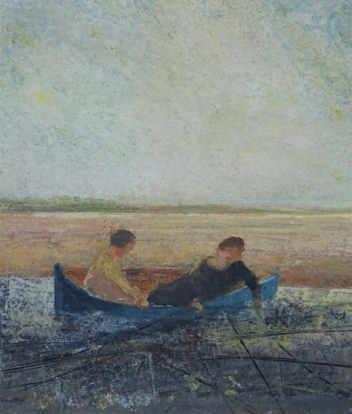 David Brayne Water and Ground pigment & acrylic Frame: 46 x 43 cm Artwork: 31 x 29 cm