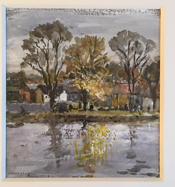 Jane Corsellis, Autumn on the Thames, Chiswick