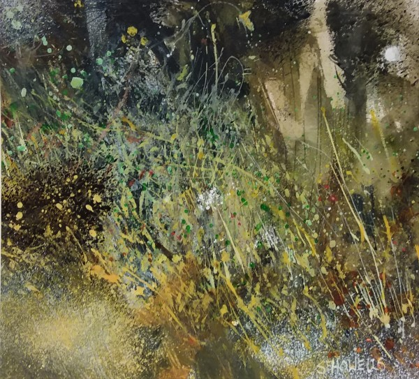 Sue Howells Signs of Spring watercolour 48 x 47cm