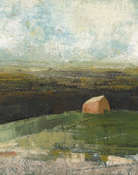 David Brayne A Hilly Walk pigment and acrylic 30x28cm