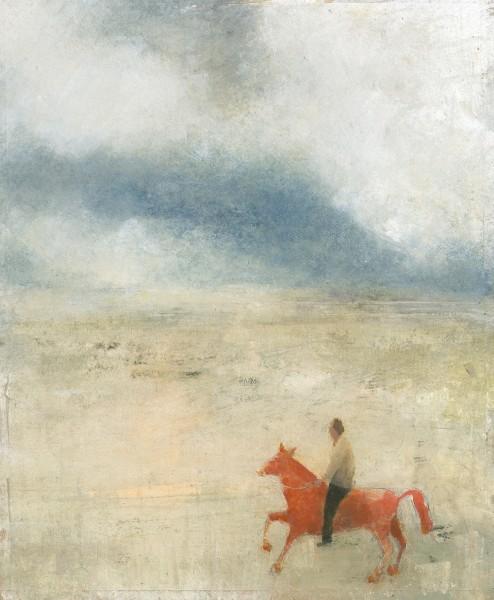 David Brayne Red Horse pigment & acrylic 58x70cm