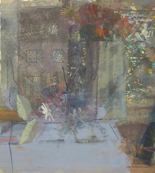 Paul Newland Large Jug, Dolls' House, Leaves watercolour & gouache 45 x 67cm