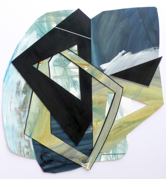 Lisa Traxler Ophelia acrylic & collage 70x64cm