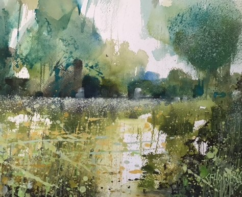 Sue Howells Simply Spring watercolour Artwork: 33 x 28cm