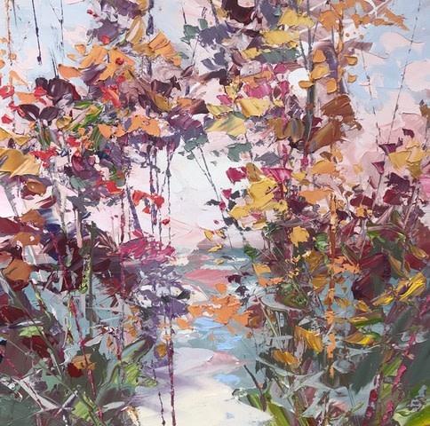 Dusk Oil on Canvas 80 x 80cm By Paul Treasure