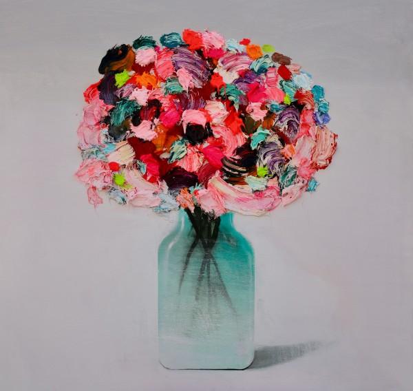 Fran Mora, Textured Flowers No.2, 2019