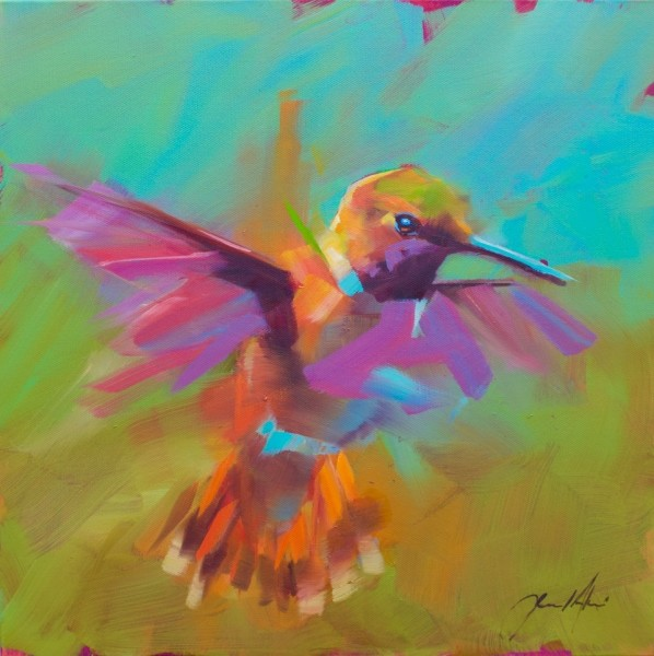 Jamel Akib, Small Hummingbird in Flight No.1, 2020