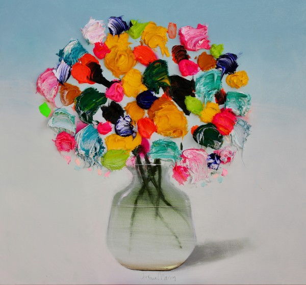 Fran Mora, Vibrant Flowers No.2, 2019