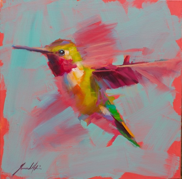 Jamel Akib, Hummingbird - Pink No.8, 2020