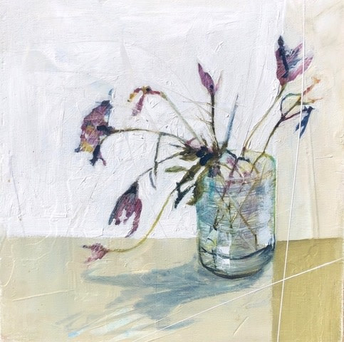 Jane Skingley, Blooms, Purple & Blue, 2019