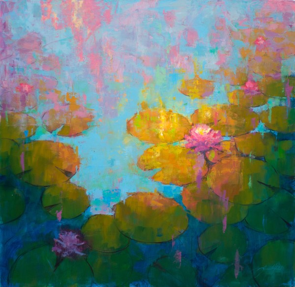 Jamel Akib, Waterlilies V, 2019