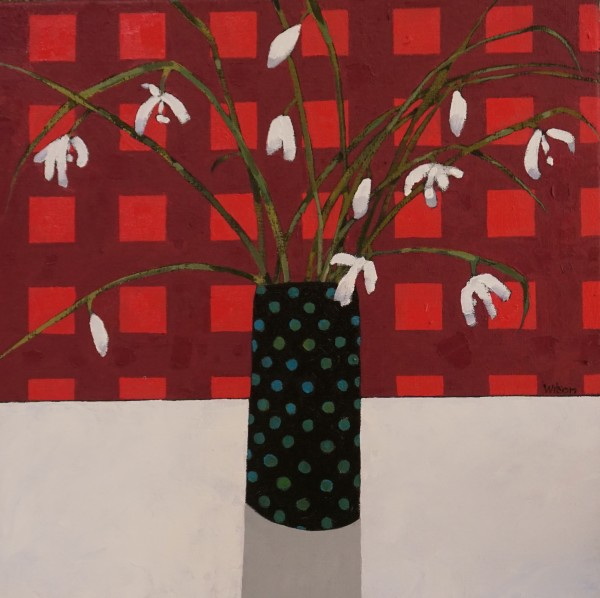Gordon Wilson, Snow Drops & The Spotty Vase, 2019
