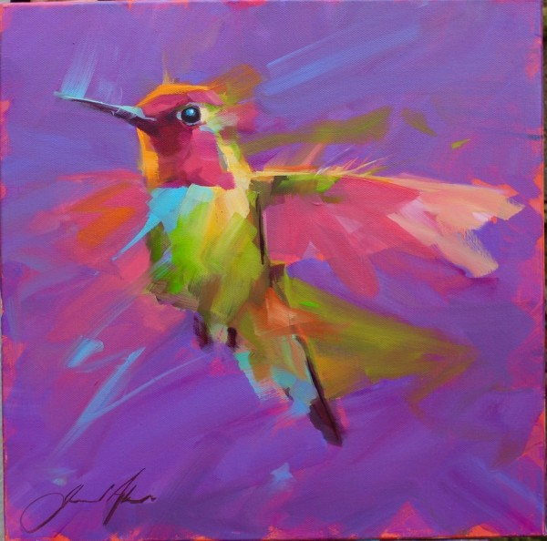 Jamel Akib, Small Hummingbird - Purple No.2, 2020