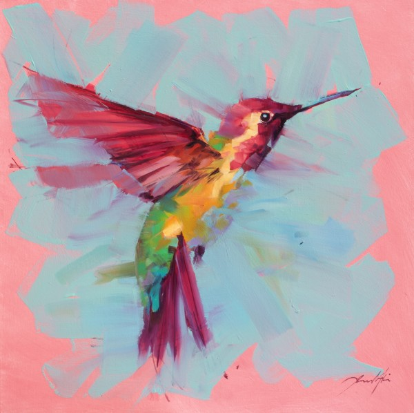 Jamel Akib, Hummingbird - Pink No.3, 2020