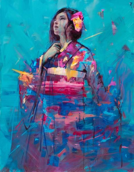 Jamel Akib, Crimson Kimono, 2018