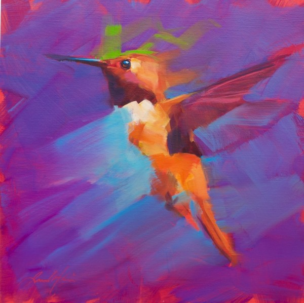 Jamel Akib, Small Hummingbird - Purple No.1, 2020