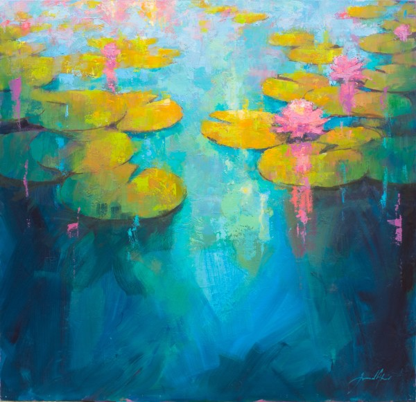 Jamel Akib, Waterlilies II, 2019