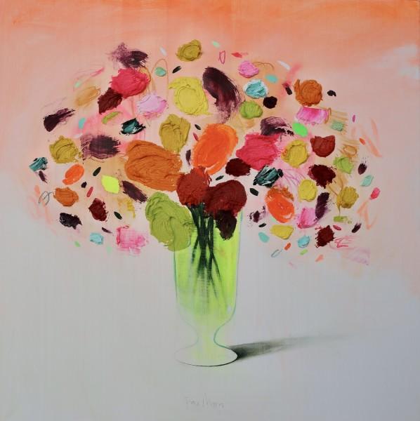 Fran Mora, Flores I with Orange, 2021