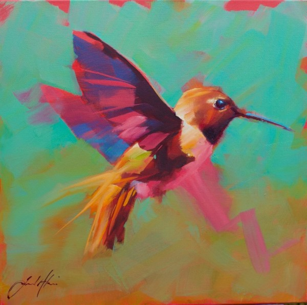 Jamel Akib, Small Hummingbird in Flight No.2, 2020