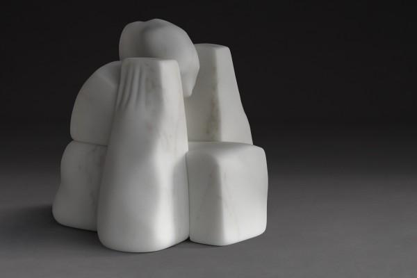 Deep Silence, White Statuary - Marble of Carrara 45 x 49 x 45 cm, 2017