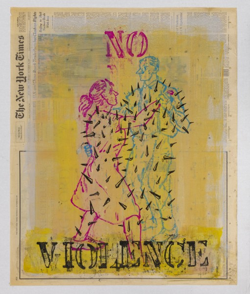 Nicky Nodjoumi - The New York Times Drawings 1996 - 1998