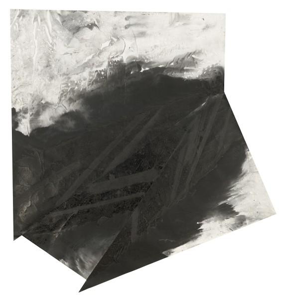 Zheng Chongbin 郑重宾, Distressed Geometry / Four Plates 被消耗掉的几何状/四块, 2014