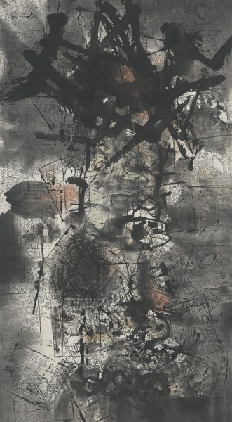 Li Jin 李津, Landscape with Sutra 有经文的风景, 1993