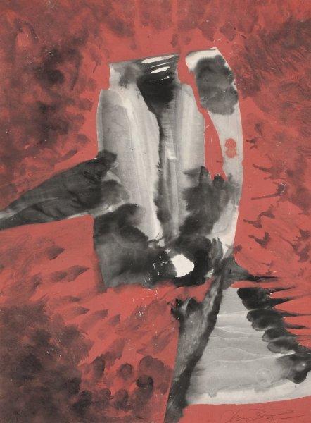 Zheng Chongbin 郑重宾, Ink Color Series No.18 墨彩系列18号, 1988