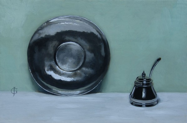 James Gillick, Silver Plate and Mustard Pot
