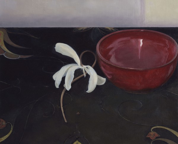 Susan Angharad Williams, White Flower, Red Bowl