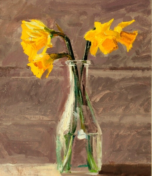Ben Henriques, Daffodils in a Glass jug