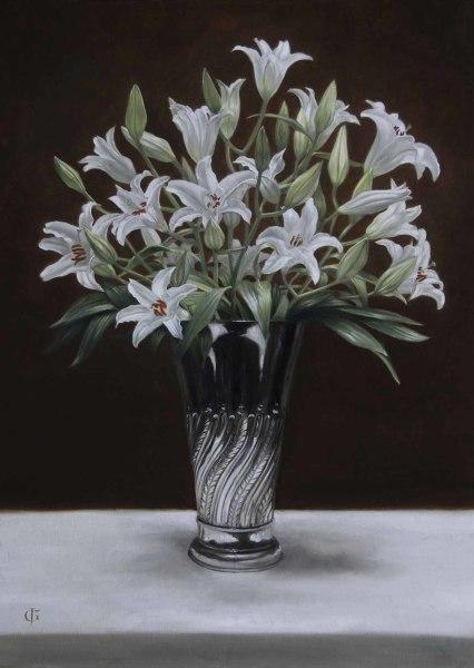 James Gillick, Lillies in a Deco Vase