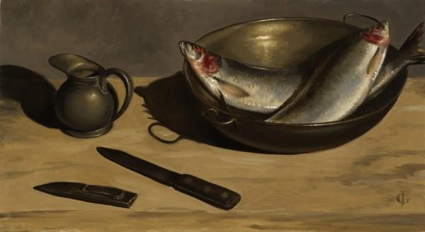 James Gillick, Herring, Pewter Jug & Knife