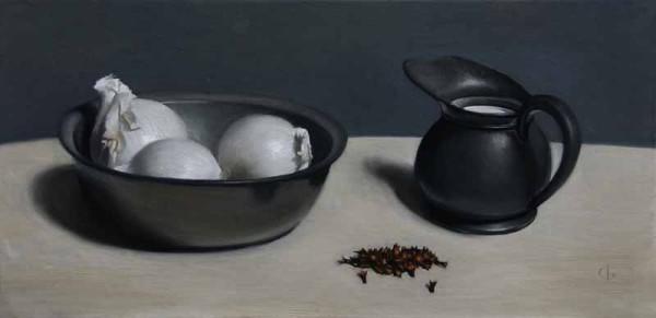 James Gillick, Spanish White Onions, Milk Jug and Cloves